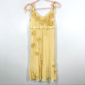 Yoana Boraschi | Floral Bead Silk Midi Dress